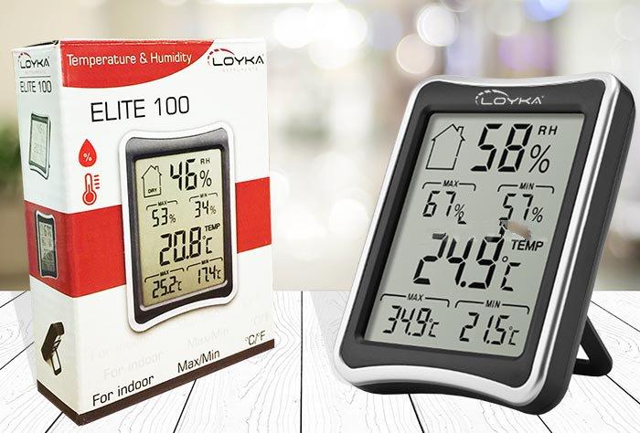 ELITE-100 MAX MIN Ortam Sıcaklık ve Nem Ölçer