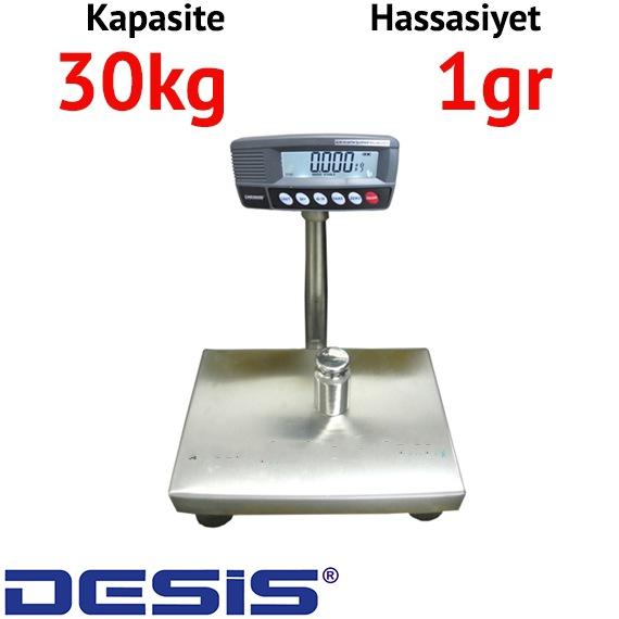 Desis RW Kefesi Paslanmaz Baskül - Hassasiyet: 1 gr. Max: 30 kg.