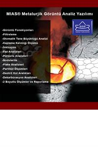 AOB OPTICAL INSTRUMENTS MIAS Metalurjik Görüntüleme ve Ölçümleme Yazılımı