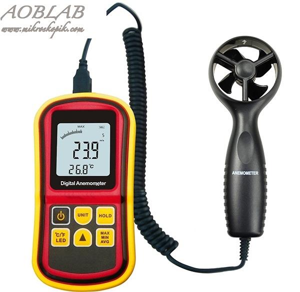 AOB  BGM8901 Dijital Anemometre Rüzgar Hızı ve Sıcaklık Ölçer