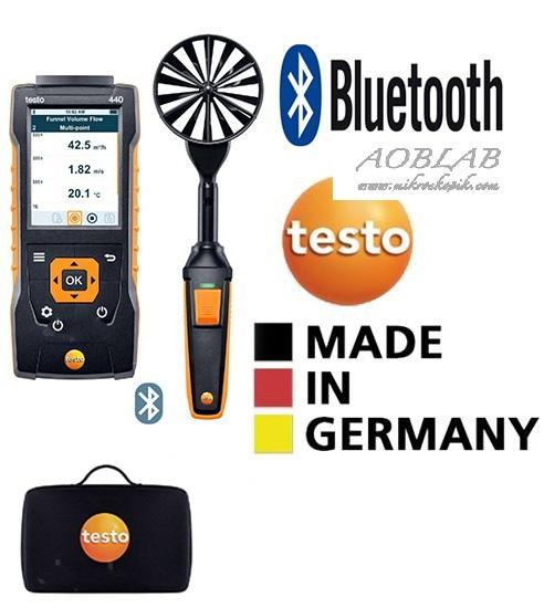 AOB Testo 440 Bluetoothlu 100 mm Rüzgar Hızı Ölçer