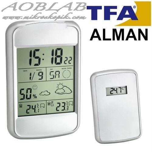AOB TFA 35.1123 `LOOK` Hava Tahminli İç Sıcaklık ve Nem, Dış Sıcaklık Ölçer