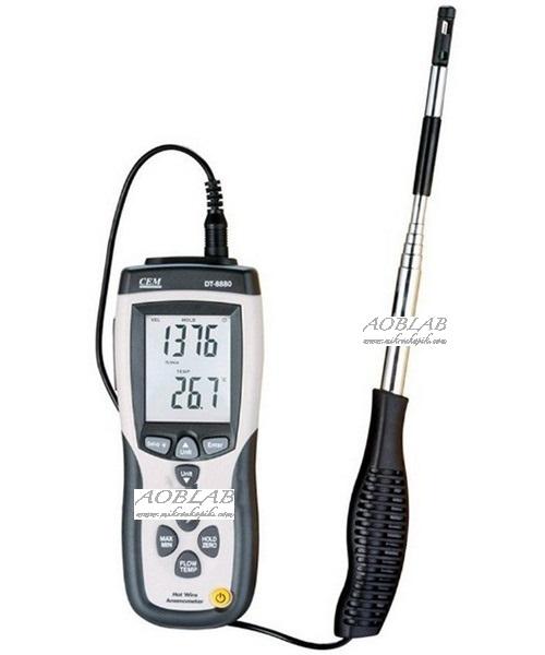 AOB CEM DT-8880 Teleskobik Problu Kızgın Tel Hava Hızı ve Sıcaklık Ölçer