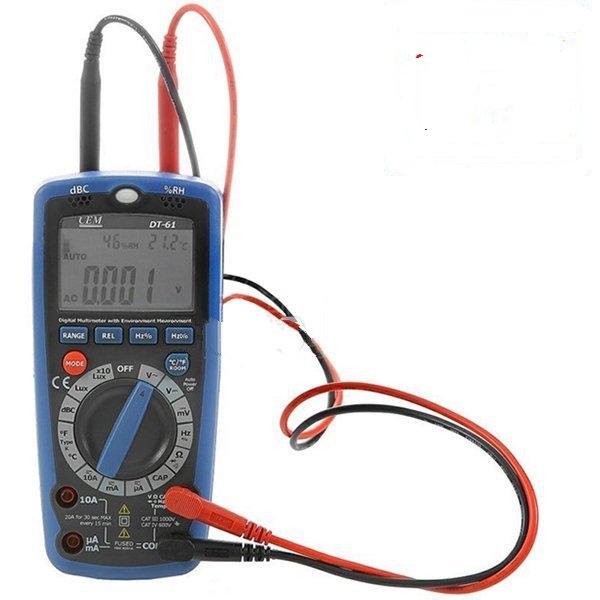 AOB CM DT61 Dijital Multimetre (Ses Ölçer, Işık Ölçer, Nem Ölçer, Sıcaklık Ölçer)